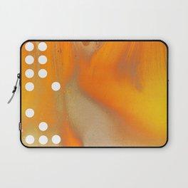 Orange Abstract Passion Laptop Sleeve