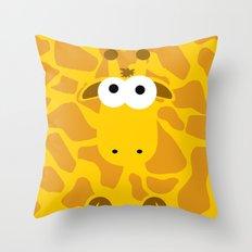 Minimal Giraffe Throw Pillow