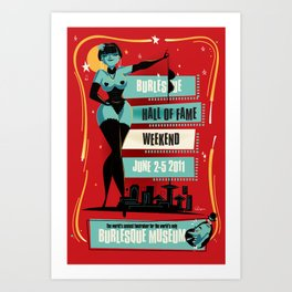 Burlesque Hall of Fame Weekend 2011 by Ragnar (Red Version) Art Print
