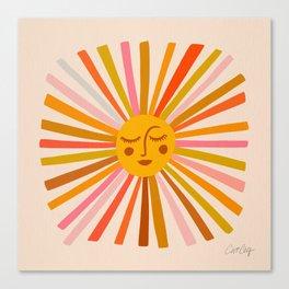 Sunshine – Retro Ochre Palette Canvas Print