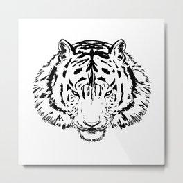 Fierce Tiger Metal Print