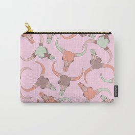 pink skulls Carry-All Pouch