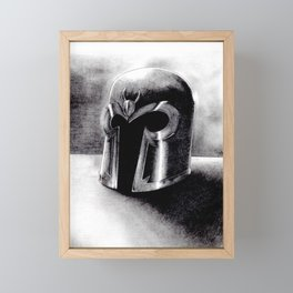 Magneto helmet Framed Mini Art Print