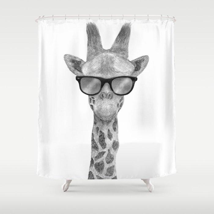 Amazing Hipster Giraffe Shower Curtain
