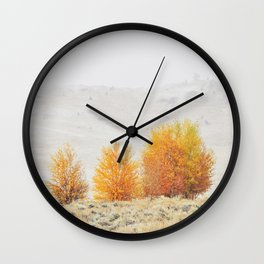 Fall Interrupted Wall Clock