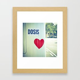 Dosis of love in the morning. Framed Art Print