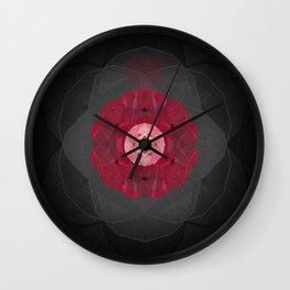 Briar Rose Sacred Geometry Meditation Print Wall Clock