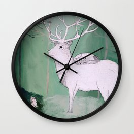 Woodland Pilgrimage Wall Clock