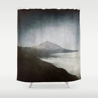 geology Shower Curtains featuring Mount Teide and dust by UtArt
