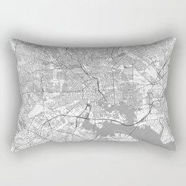 Baltimore Map Line Rectangular Pillow