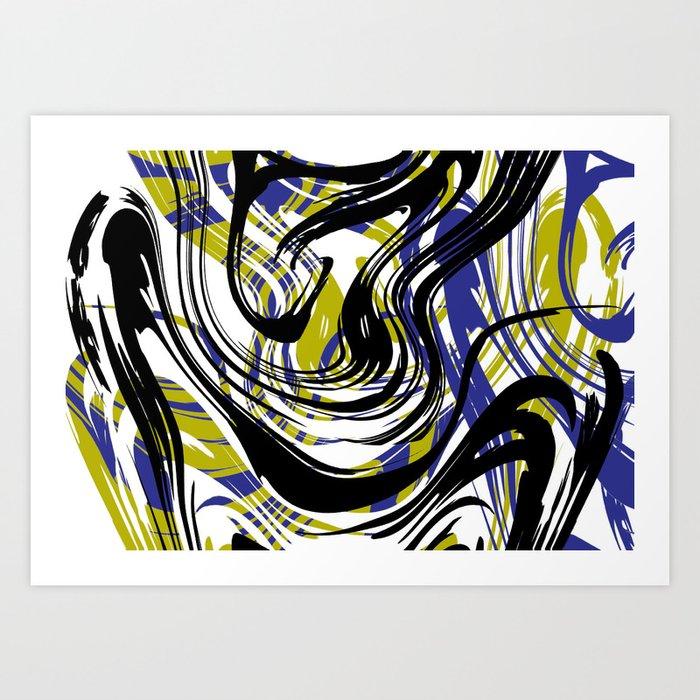 Move No.1 Digital Art Art Print