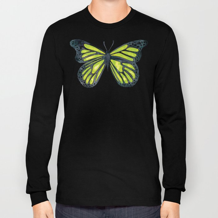 Lime Butterfly Long Sleeve T-shirt