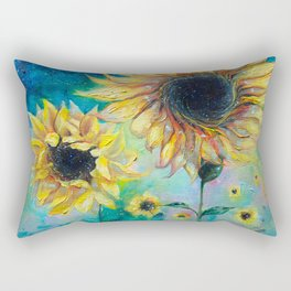 Supermassive Sunflowers Rectangular Pillow
