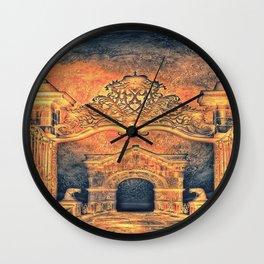 Ancient Church In Mystic Brown Wall Clock