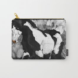 Black & White Horse Carry-All Pouch