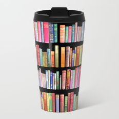 Antique Book Library for Bibliophile Travel Mug