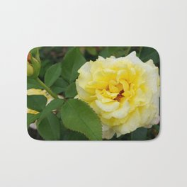Single Yellow Rose Bath Mat