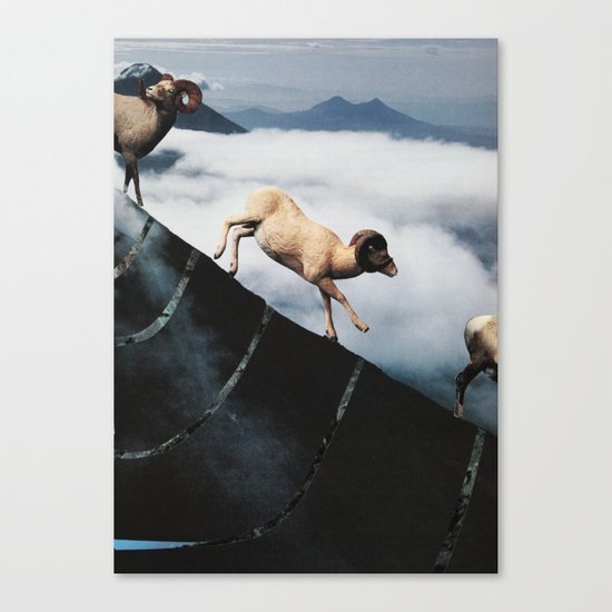 rampaging mountain goats Canvas Print