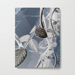 Leaf Of Metal Metal Print