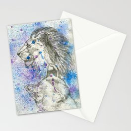 Lion & Lioness  Stationery Cards