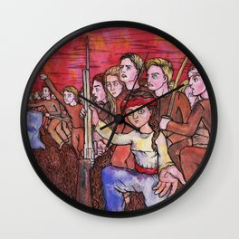 Rise in Revolution Wall Clock