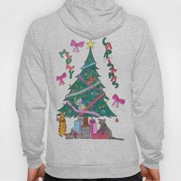 Meowy Christmas Hoody