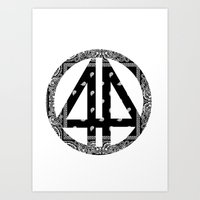 bands Art Prints featuring Floral bands by ART ON CLOTH