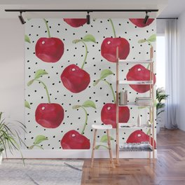 Cherry pattern II Wall Mural