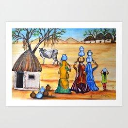 Manthan-Gujrat Women Empowerment Art Print