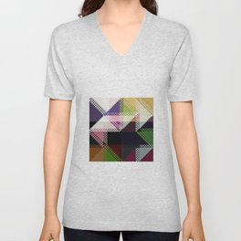 Pattern Multi Color Abstract Unisex V-Neck