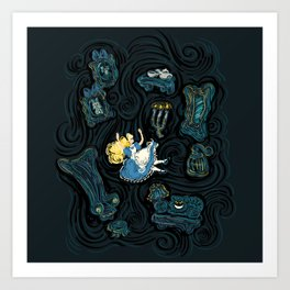 Alice's Fall Art Print
