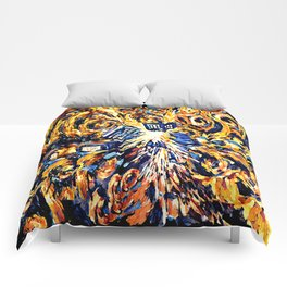 Exploded with Flame Blue phone Box iPhone 4 4s 5 5c 6, pillow case, mugs and tshirt Comforters