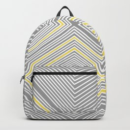 White, Yellow, and Gray Lines - Illusion Backpack