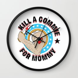 Kill A Commie For Mommy The Ramones Punk Rock CBGB Commando Hey Ho Lets Go USA Rock N Roll High Wall Clock