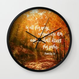 He Will Direct Your Path Bible Verse Wall Clock