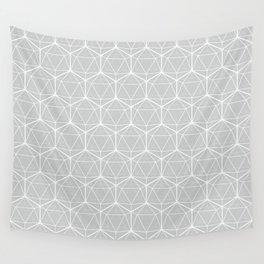 Icosahedron Soft Grey Wall Tapestry