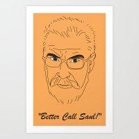 better call saul Art Prints featuring Better Call Saul Berenson by FENNIKEL