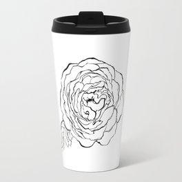 Rose Ink Drawing Travel Mug