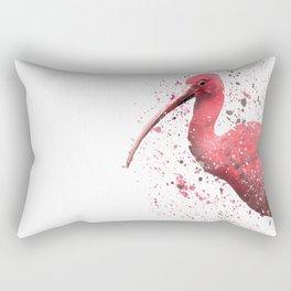 Red Ibis Portrait Rectangular Pillow