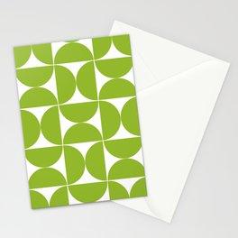 Medium green mid century shapes Stationery Cards