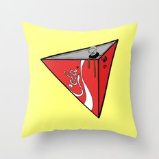 COLA CAN Throw Pillow