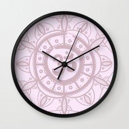 Ohm Mandala - Pink Wall Clock