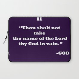 Ten Commandments.......II Laptop Sleeve