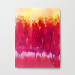Sunset in Fall Abstract Landscape Metal Print