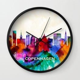 Copenhagen Skyline Wall Clock