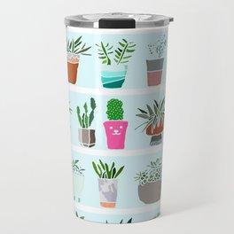 Succulent and Cactus shelfie Travel Mug