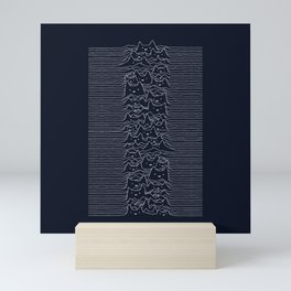 Furr Division Cats (Dark Blue) Mini Art Print