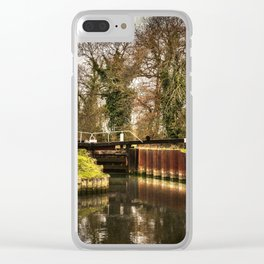 Sulhamstead Lock on the Kennet and Avon Clear iPhone Case