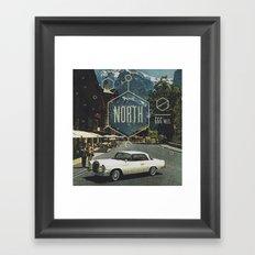 666 miles north Framed Art Print
