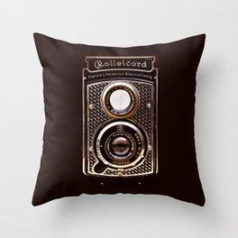 Rolleicord art deco Throw Pillow